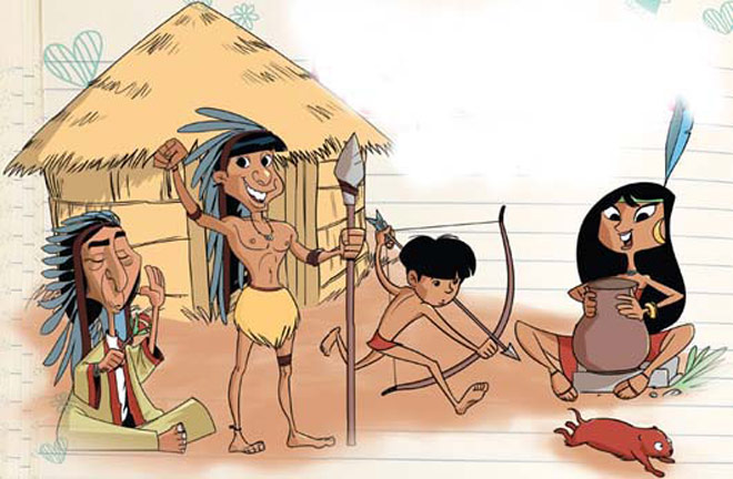 Os índios possuíam um modo de vida bem simples.  (Foto: Reprodução)