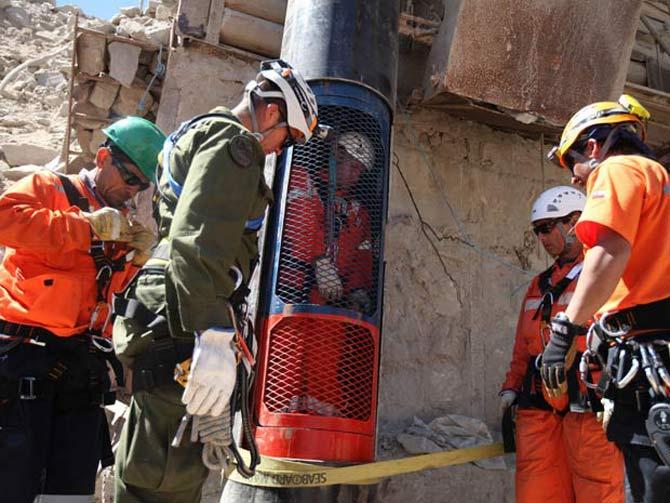 Resgate dos mineiradores no Chile em 2010 (Foto: Reprodução)