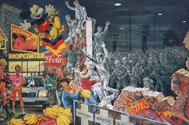 Muro de Berlim dividia Alemanha em dois blocos econômicos: capitalistas e socialistas.