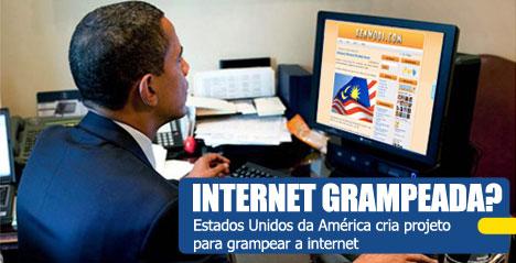 Internet grampeada pelos Estados Unidos
