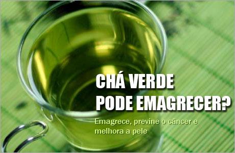 Chá verde pode emagrecer
