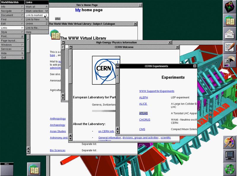O primeiro navegador Web WordlWideWeb