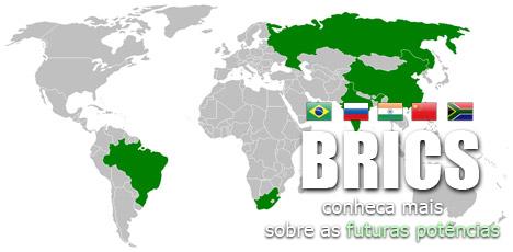 Os BRICS mapa