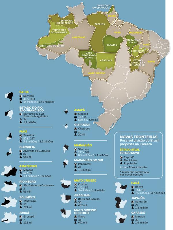 Novo mapa do Brasil