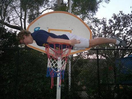 Planking Cesta de Basquete