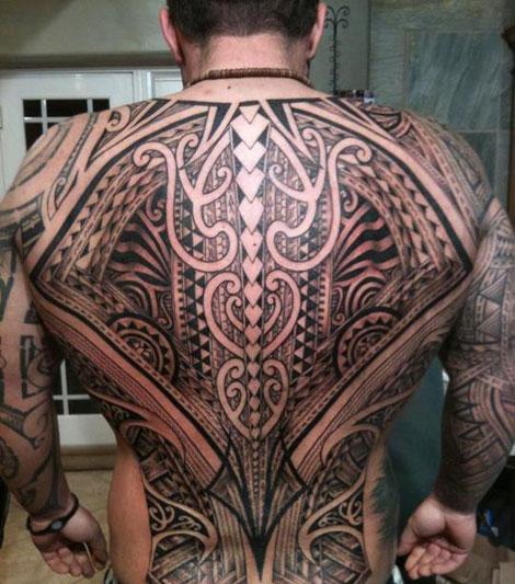 Full Back Tribal Tattoos