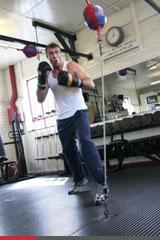 Prática de boxe