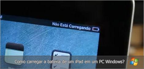 Como carregar o iPad em um PC Windows