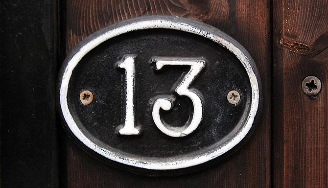 Há muito tempo o número 13 é visto com maus olhos.