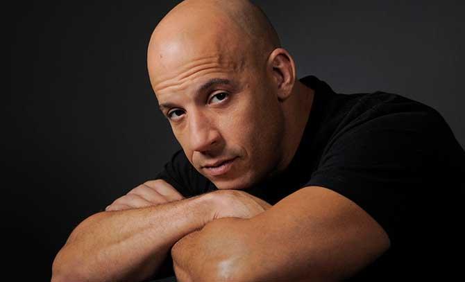 O ator Vin Diesel é um dos carecas mais conhecidos dos cinemas