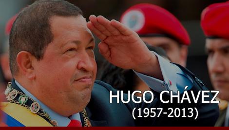 Anúncio da morte do Presidente venezuelano Hugo Chávez