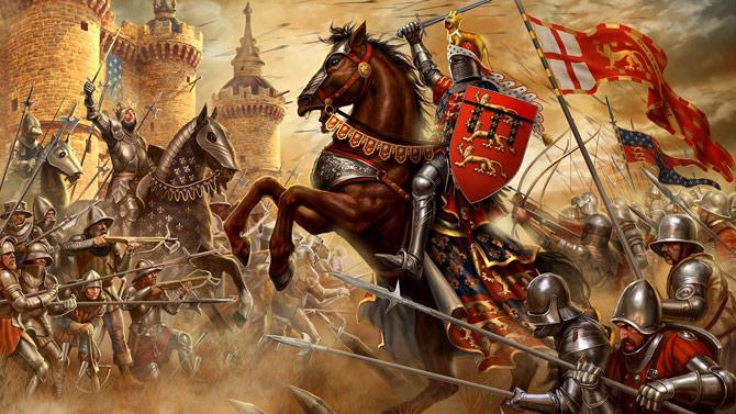 A guerra dos cem anos (Foto: Ilustração/Reprodução)