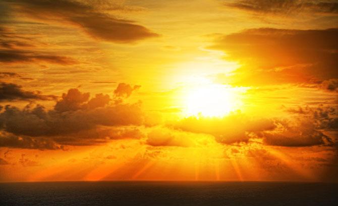 O sol é um dos bens mais valiosos da humanidade.