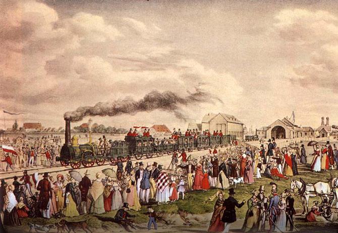 Com a invenção da locomotiva, muitas camponeses acabaram deixando suas casas rumo à cidade. (Foto: Reprodução)