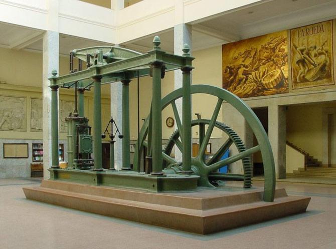 O motor a vapor de James Watt, alimentado principalmente com carvão, impulsionou a Revolução Industrial no Reino Unido e no resto mundo. (Foto: Wikipedia)