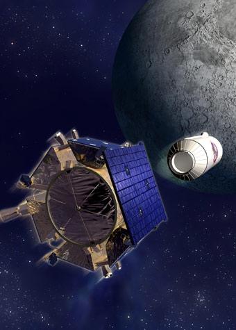 A missão Lcross teve por objetivo encontrar água na lua.