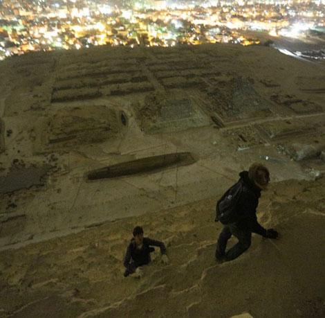 Escalando uma piramide