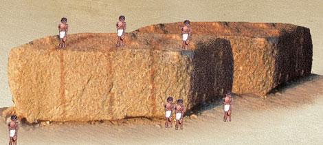 Pedras pirâmides do Egito