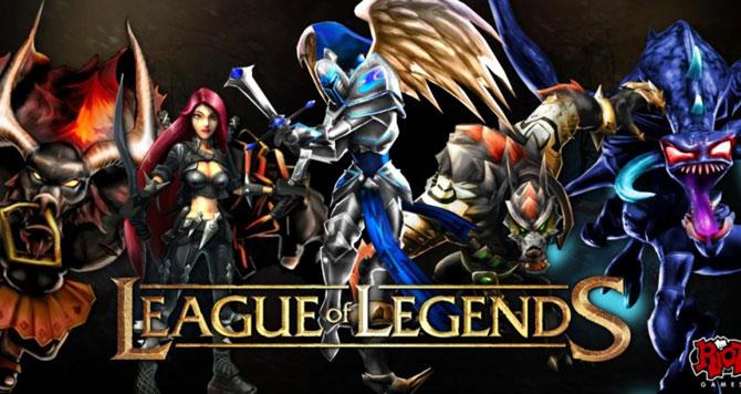 Um dos primeiros banners do jogo feito pela Riot Games