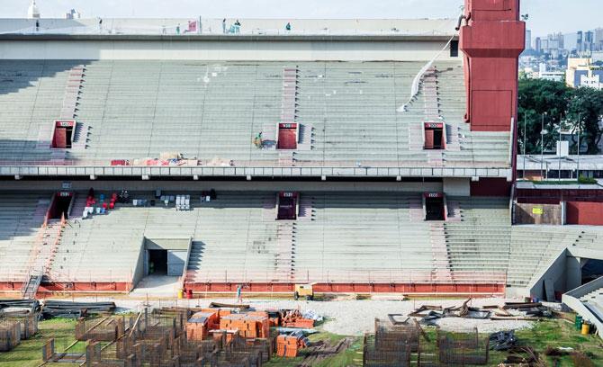 As obras na Arena da baixada já estão na reta final.