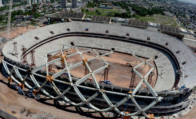 Obras arena amazonia