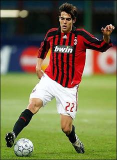 Kaká em sua primeira passagem pelo Milan