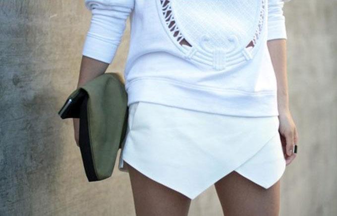 As saias assimétricas estão com tudo, e é uma das principais tendencias desse ano.