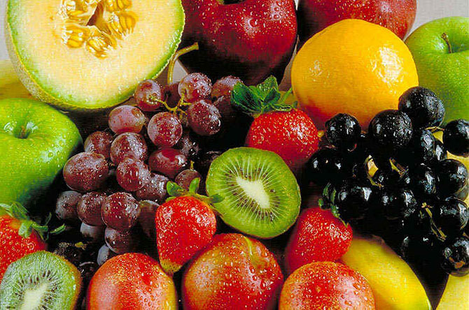 As frutas são uma ótima fonte de proteínas.
