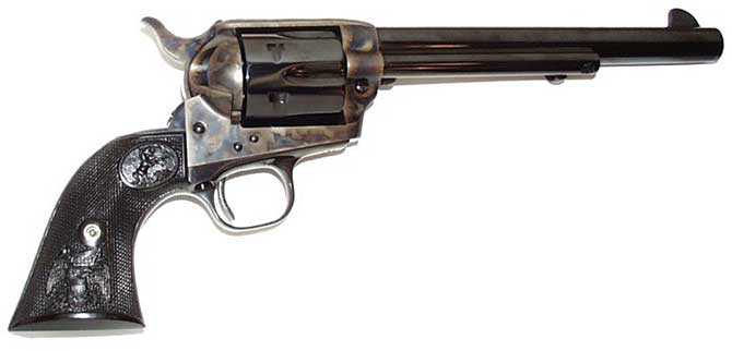 A Colt .45 foi a principal arma da época.