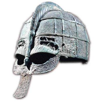 Elmo viking do século V (Museu Histórico de Estocolmo)