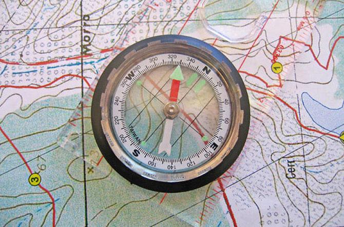 A bússola e a escala fazem com que possamos compreender perfeitamente um mapa.