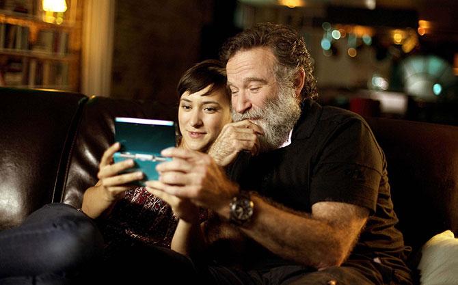 Robin Williams e sua filha Zelda.