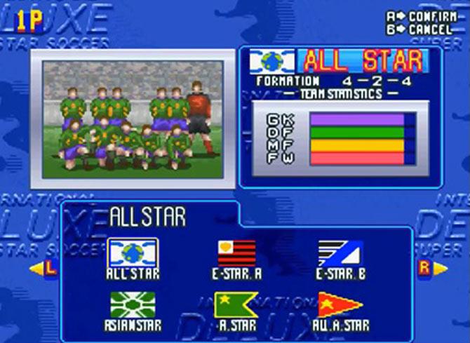 O time All Star contava com força máxima e os melhores jogadores.