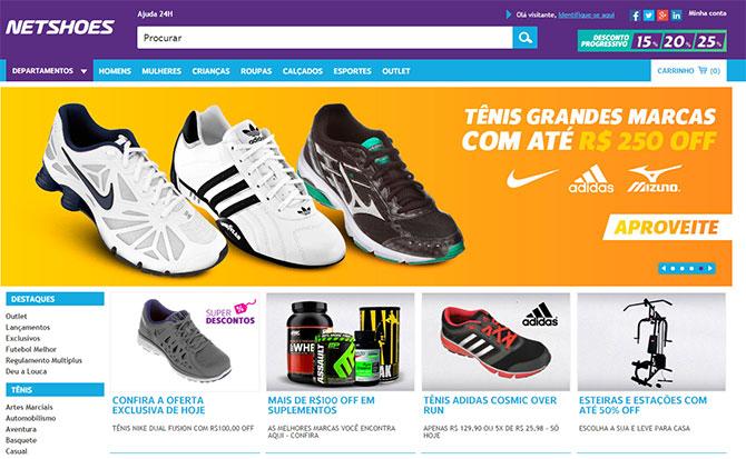 Site da Netshoes (Imagem: Netshoes)