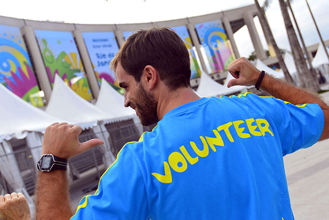 O serviço de voluntariado  também funcionou durante a Copa do Mundo da FIFA.