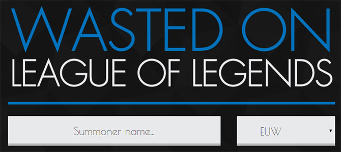 Site para ver quanto tempo você perdeu jogando League of Legends.
