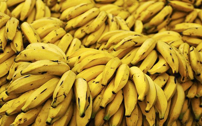 A banana garante energia e disposição, por ser rica em vitamina B6