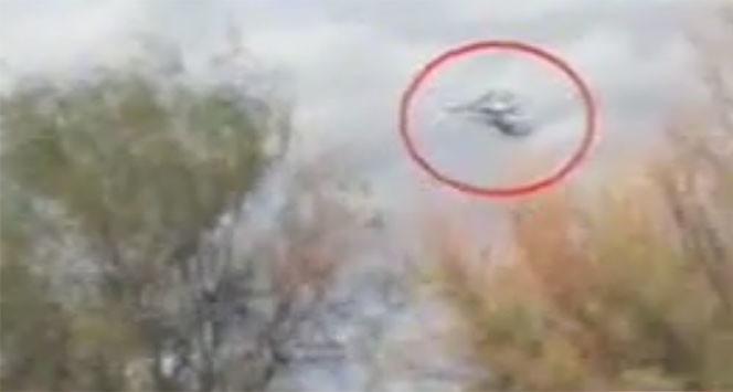 Momento do choque entre os dois helicópteros