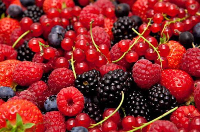 As berrys, conhecidas também como frutas vermelhas são ótimas escolhas também