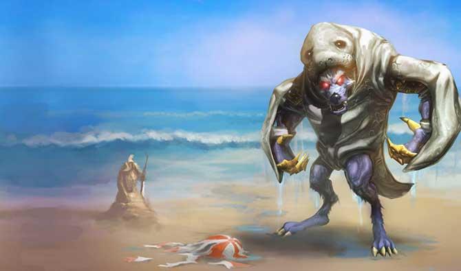 Após assassinar o Urf, Warwick ganhou uma skin na qual veste a pele do peixe-boi