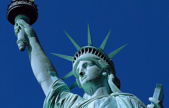 O mesmo rosto é utilizado na estátua da liberdade em Nova York