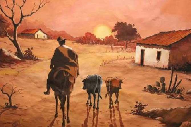 O vaqueiro no Sertão : Meuri