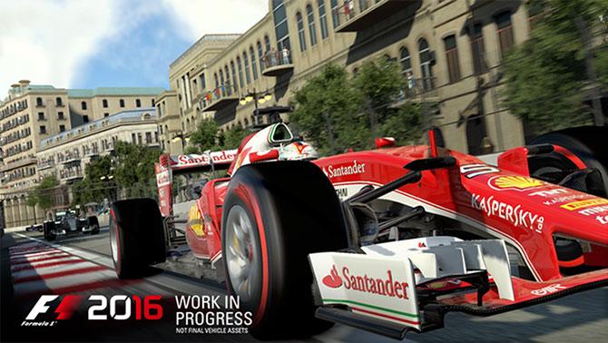 F1 2016 virá totalmente atualizado e contará com o novo circuito de rua de Baku (Foto: Divulgação/Codemasters)