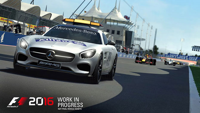 Safety-car está de volta no F1 2016 e promete ser muito mais realista (Foto: Divulgação/Codemasters)