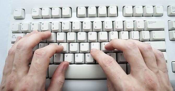 O modelo de teclado mais usado no mundo todo e que você provavelmente usa é chamado QWERTY